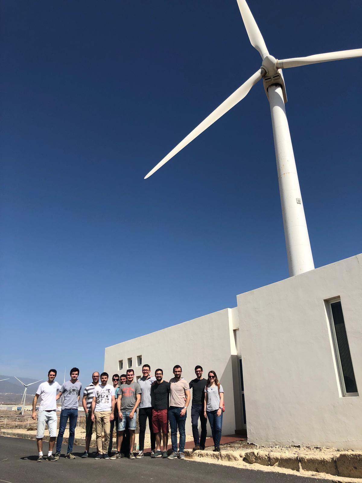 Estudiantes de la UPNA, durante su visita al ITER de Tenerife