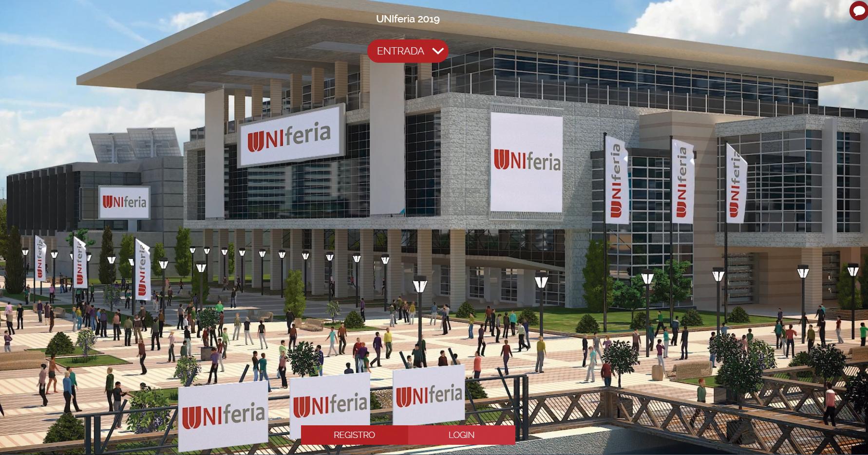 Imagen de la feria virtual UNIferia, en la que participará la UPNA.