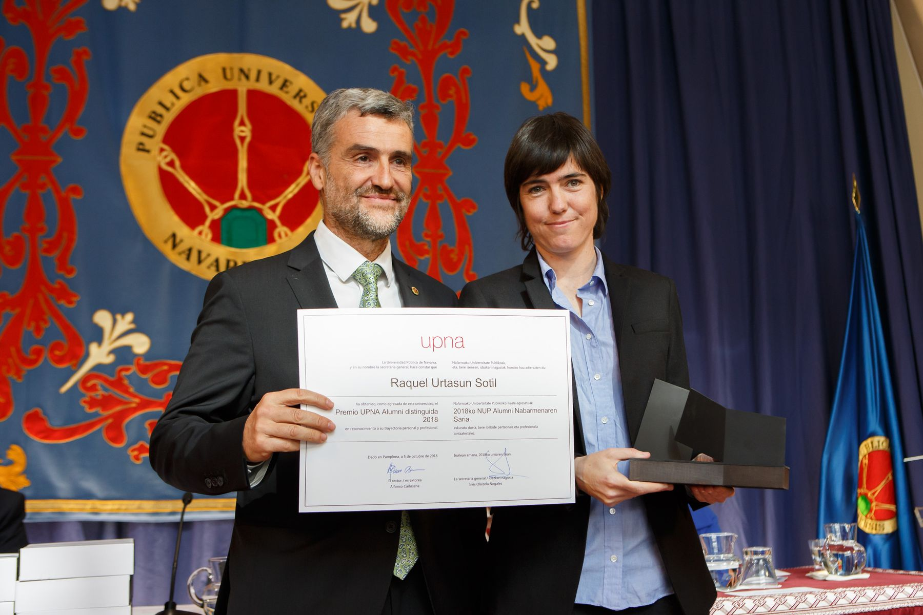 Raquel Urtasun, egresada reconocida con el Premio Alumni Distinguido en 2018.