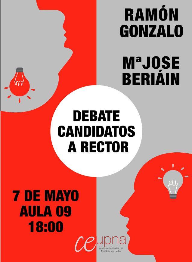 Imagen del cartel anunciador del debate.