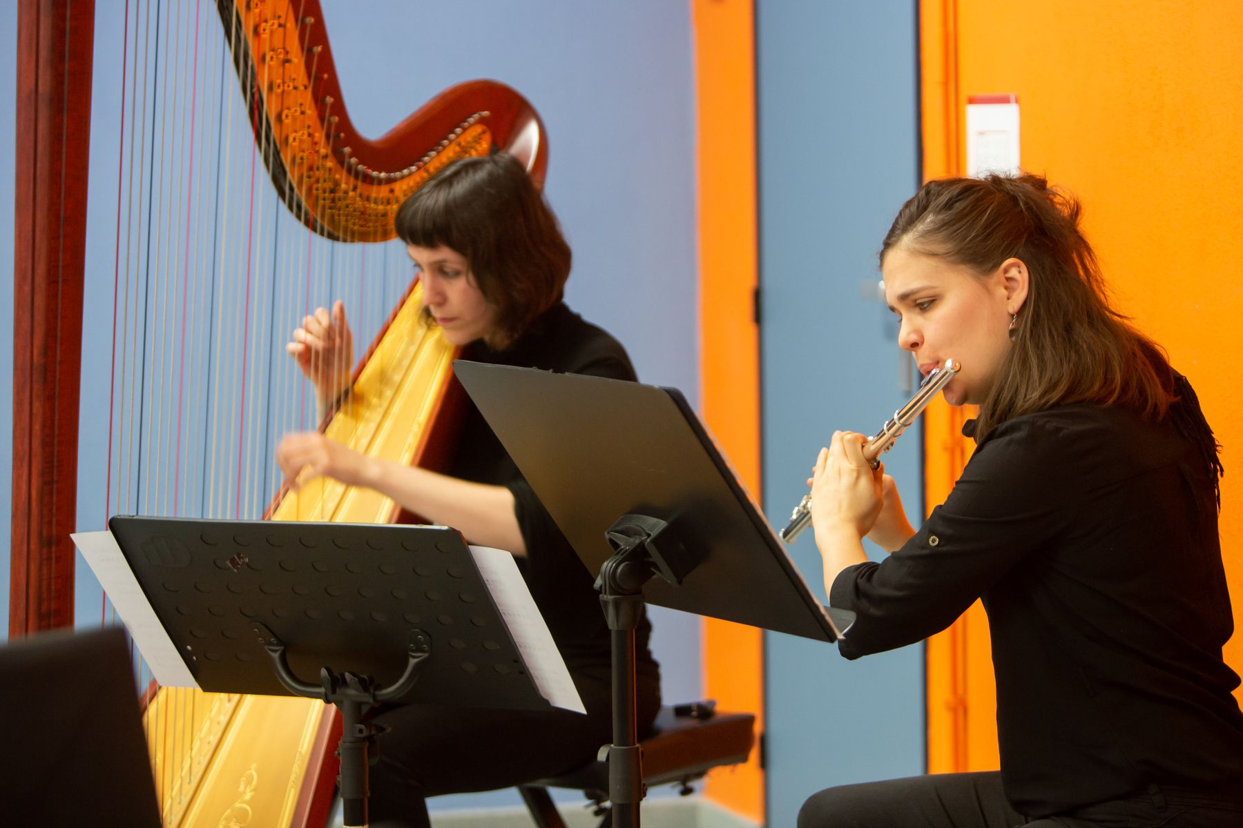 Un momento de la intervención del dúo musical.