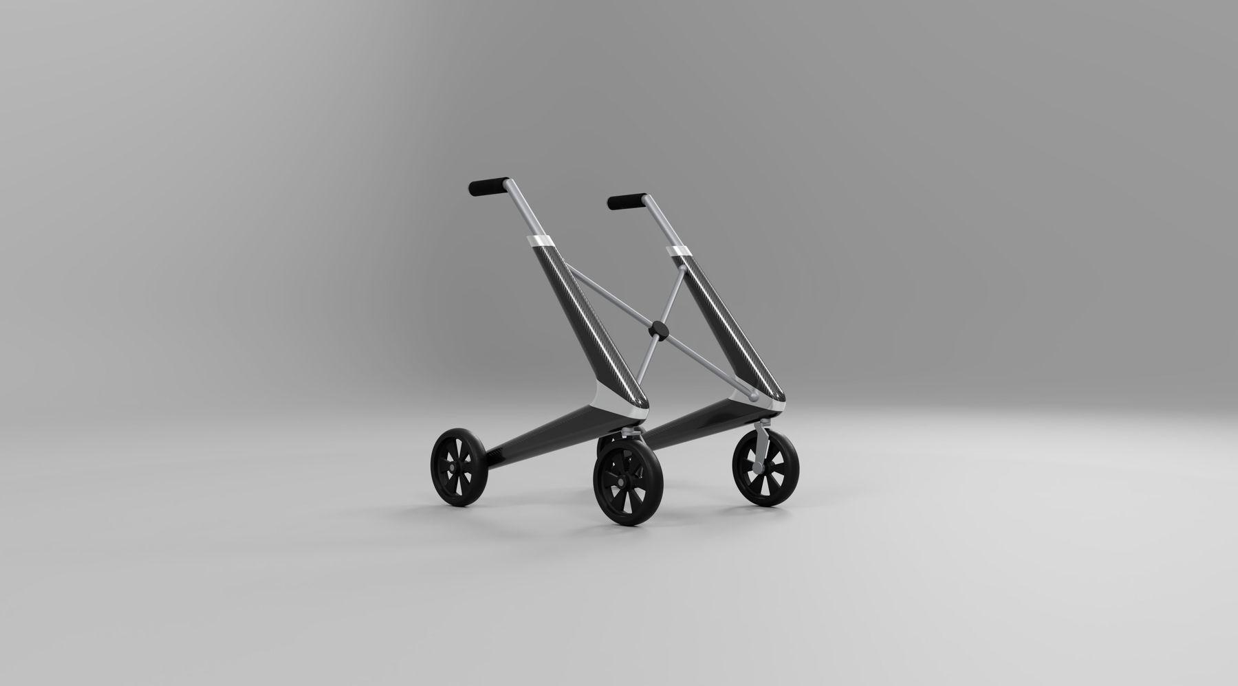 """Prototipo de andador inteligente, diseñado por Adrián Jiménez e impulsado por la """"start-up"""" DARWIN Biomedical."""