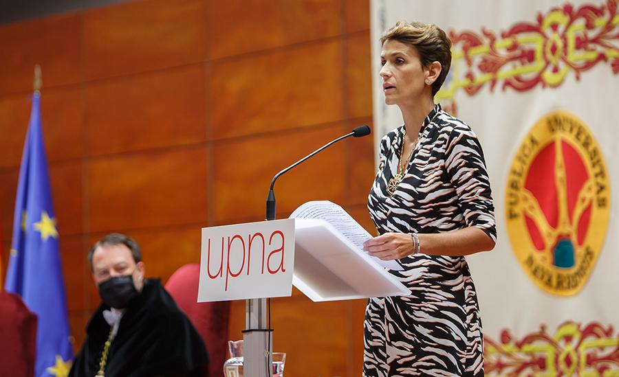 La presidenta de la Comunidad Foral de Navarra, María Chivite