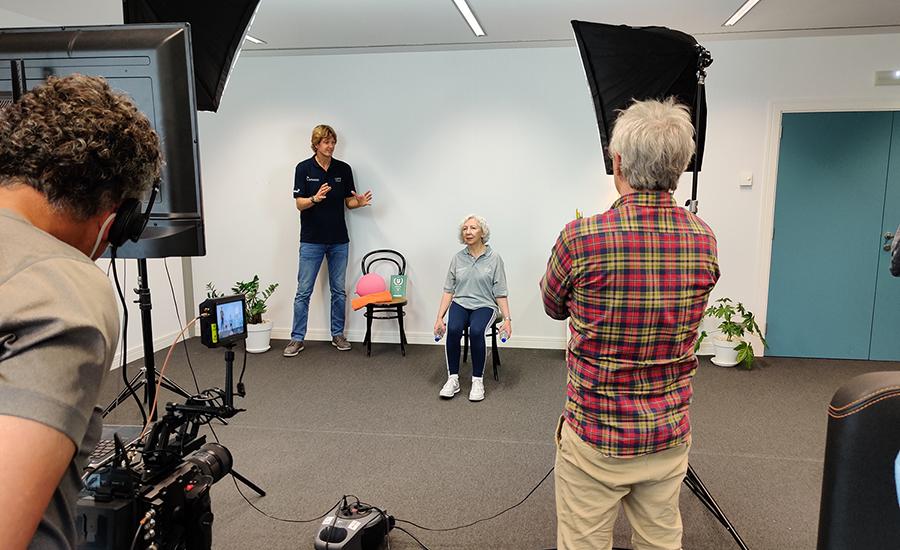 Imagen de uno de los rodajes de los vídeos