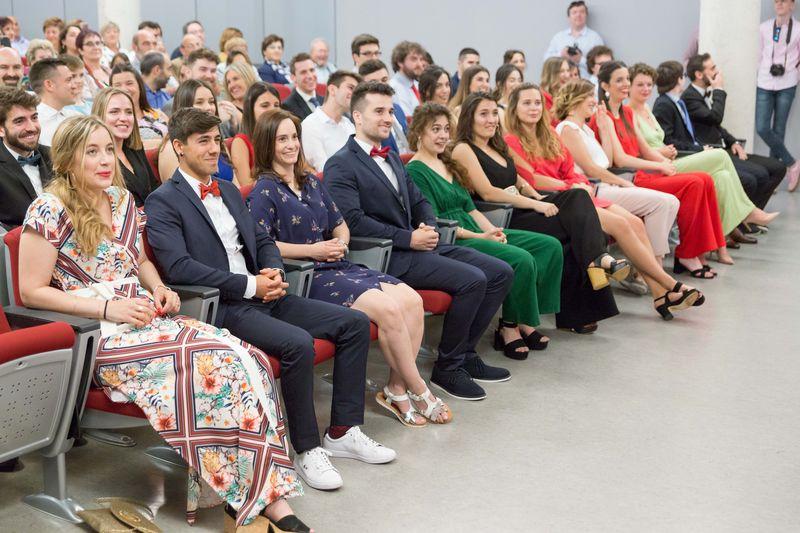 La ceremonia se desarrolló en el Salón de Actos del campus de Tudela.