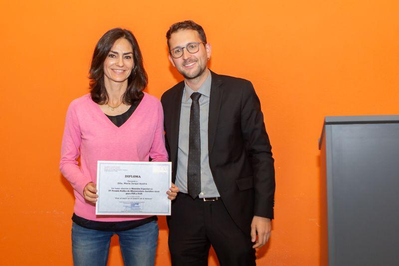 María Jorqui, accésit premio Kafka en PAS-PDI.