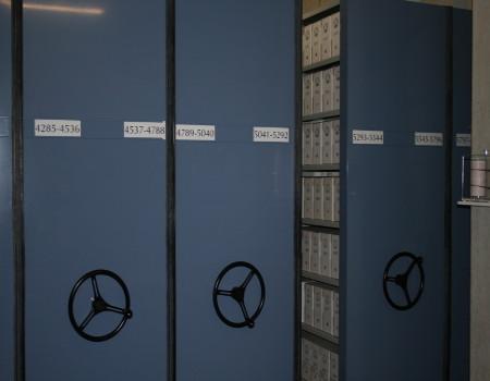 Armarios compactos de archivo de color azul