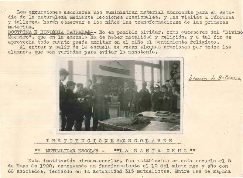 Memoria de prácticas escolares de Eleuterio Urrustabaso 1930.