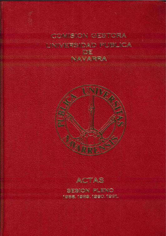 Tapa del libro de actas de la Comisión Gestora 1988-1991.