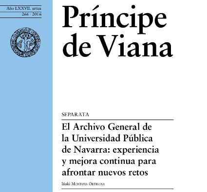 Portada de la revista Príncipe de Viana
