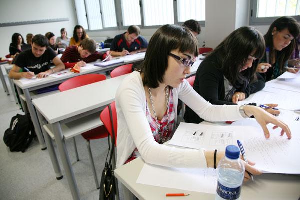 Clases en el Campus de Tudela.