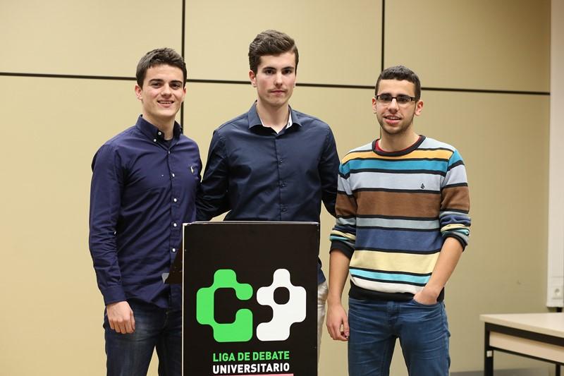 Raúl Lecumberrri Morato, Marcos Vicente Aranguren y David Garciandía Igal, segundos clasificados.