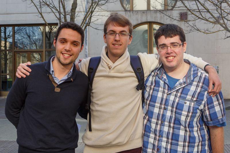 Equipo formado por Mikel Braco Goñi, IñakiEstremado Larrea y Mikel Sanzo San Martín.