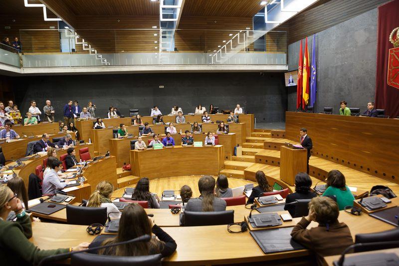 Vista general del Parlamento de Navarra, lugar de la final