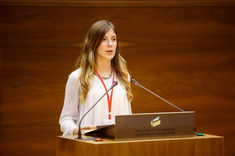 Intervención en el Parlamento de Navarra.