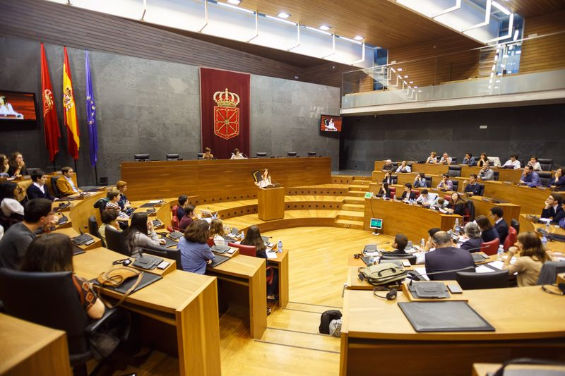 Vista general del Parlamento de Navarra.