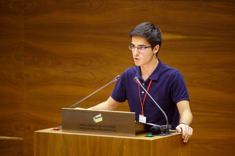 Instante de un debate en el Parlamento de Navarra.