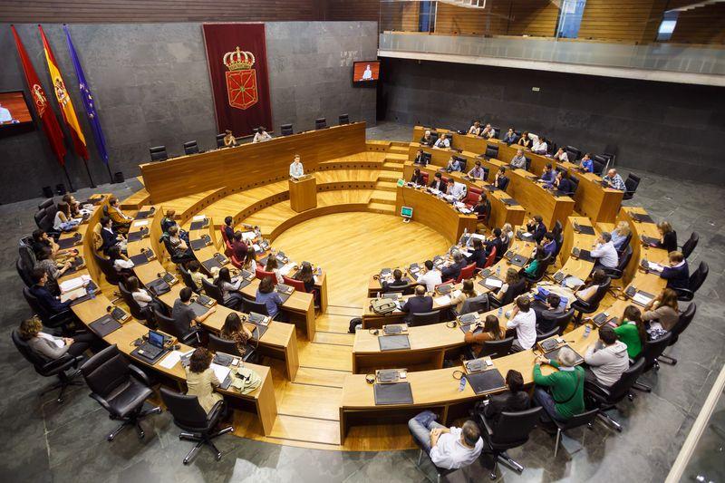 Vista general del Parlamento de Navarra el día del torneo.