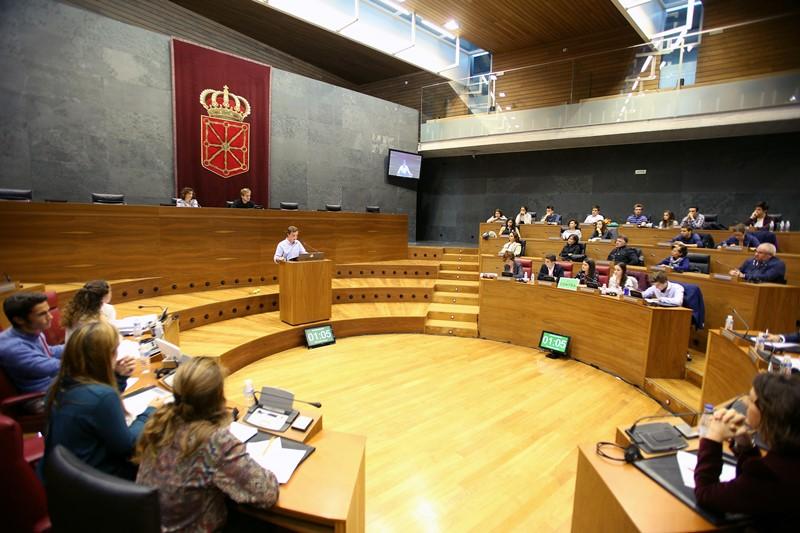 Momento de una intervención en el Parlamento