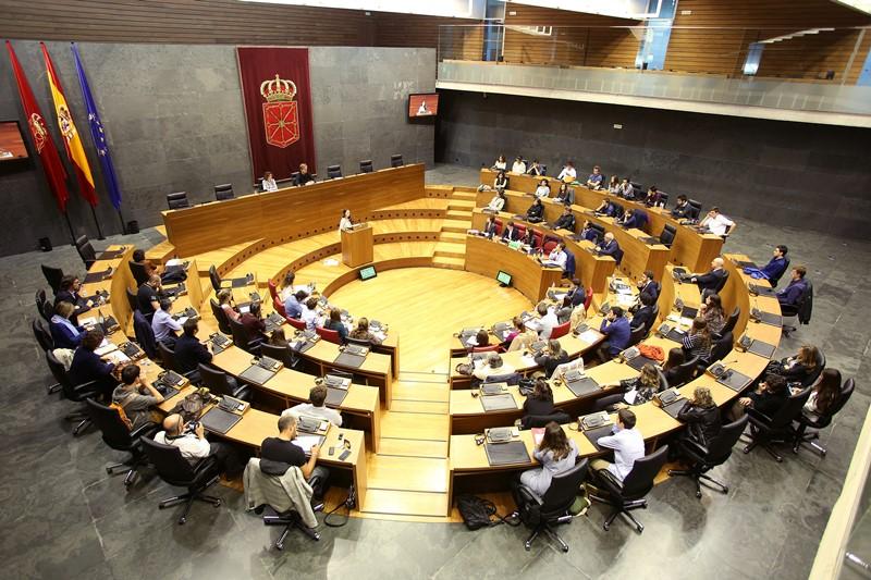 Panorámica del Parlamento de Navarra, donde se realizó fase final del Torneo