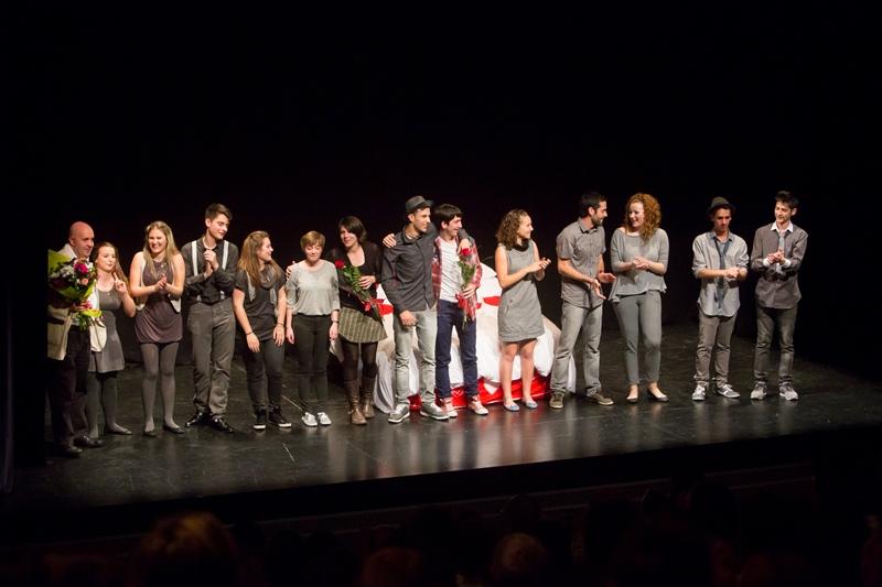 """Obra """"Besos"""", del grupo de teatro de la Universidad Pública de Navarra."""